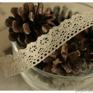 Cluny Cotton Lace Trim Picot Edge Crochet Look 2.5cm Antique White