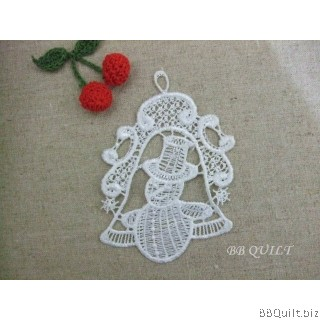 Christmas applique Ornament Jingle Bell Snowman