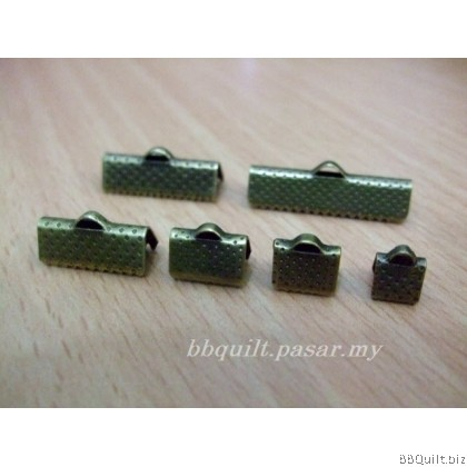 DIY Craft Supplies|Ribbon End Clasp|Antique Brass