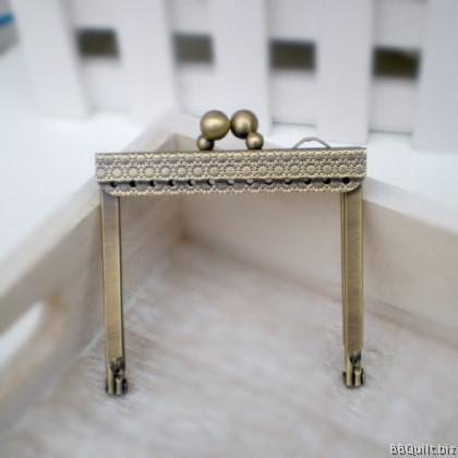 7cm Antique Brass Mini Open Channel Purse Frame