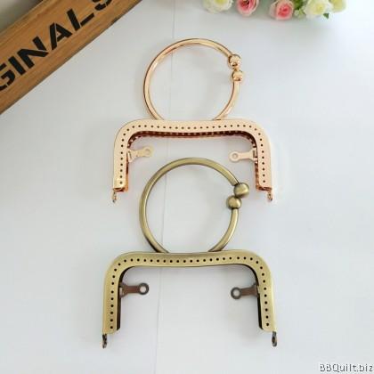 12.5cm Bracelet handle Side Lock Square Purse Frame