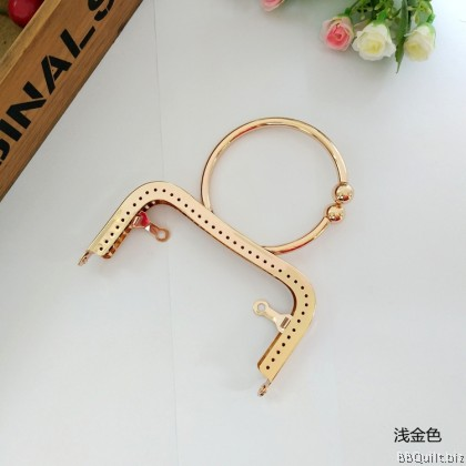 12.5cm Bracelet handle Side Lock Square Purse Frame