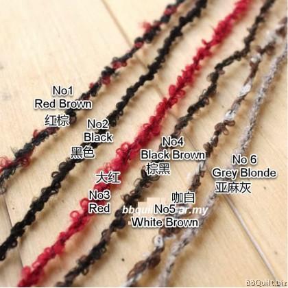 DIY Supplies Doll Hair Yarn 6 colours 2m