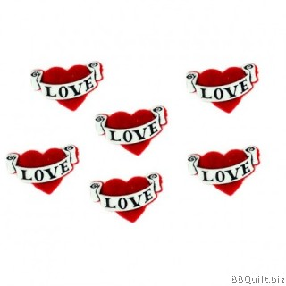 Love Hearts Dress It Up Buttons