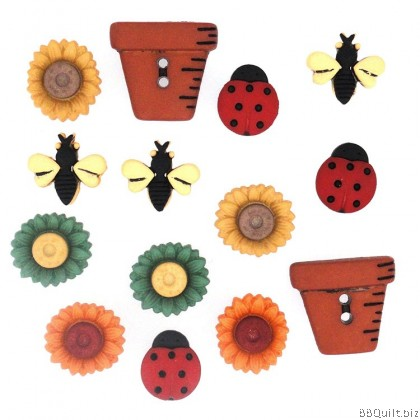Bugs and Blooms Dress It Up Buttons