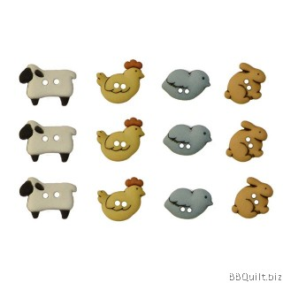 Country Critters Dress It Up Buttons