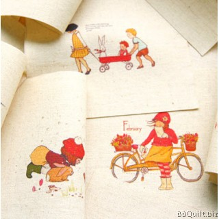 12x12cm Childhood Memories Hand Dyed Fabric|Small Panel Fabric