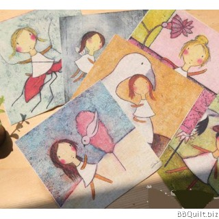 12x12cm Childhood Friendship Hand Dyed Fabric|Small Panel Fabric