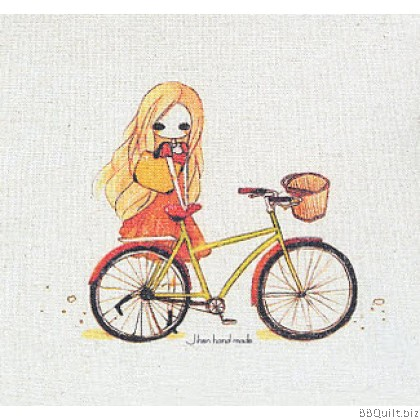 20x20cm Cycling Hand Dyed Fabric|Small Panel Fabric