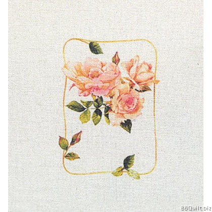 20x20cm Roses Hand Dyed Fabric|Small Panel Fabric