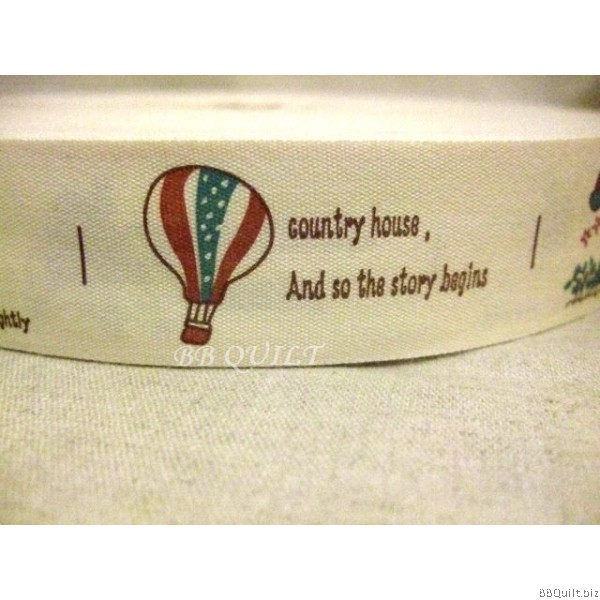 Zakka Cotton Tape Sewing Label -Summer Holiday 30mm