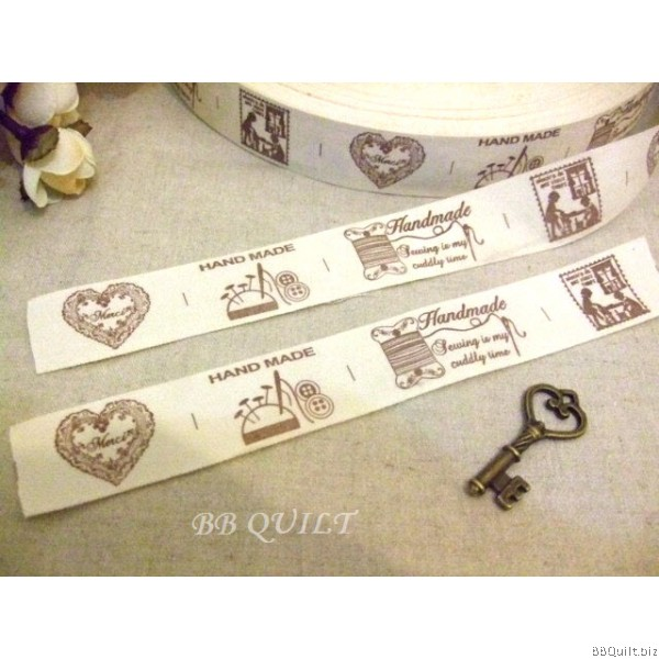 Zakka Cotton Tape Sewing Label - Handmade Sewing Fun 26mm