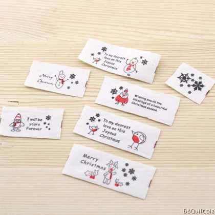Zakka Cotton Tape Sewing Label - Merry Christmas 26mm