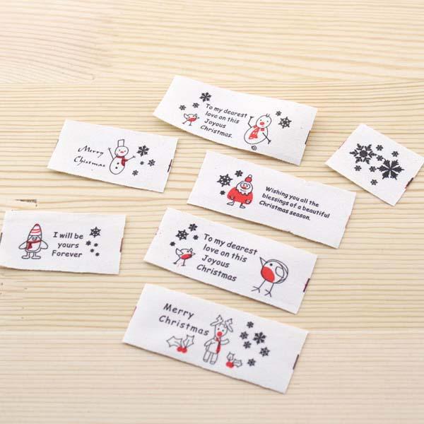 Zakka Cotton Tape Sewing Label - Merry Christmas 26mm