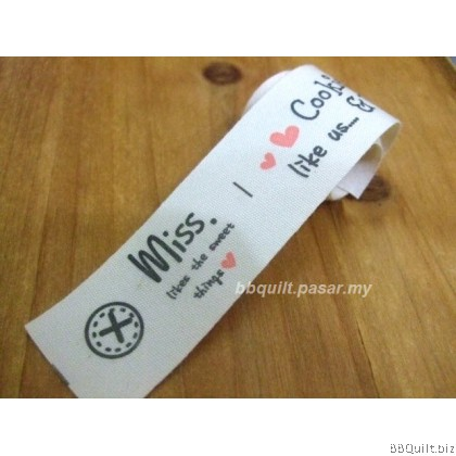 Zakka Cotton Tape Sewing Label - We Love Handmade 26mm