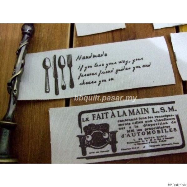 Zakka Cotton Tape Sewing Label - Europa Vintage Themed B 25mm