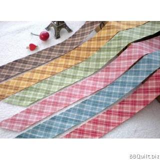 Tartan Plaid Yarn Dyed Bias Tape|Binding Tape|6 Colours