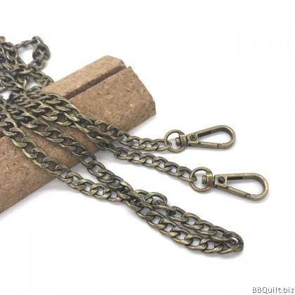 Purse Chain Large Thick Curb Chain 2 Colours 120cm
