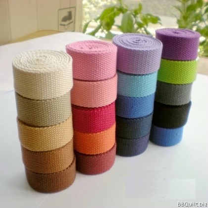 25mm width|Polyester-cotton Canvas Webbing|Bag Straps|10 colours