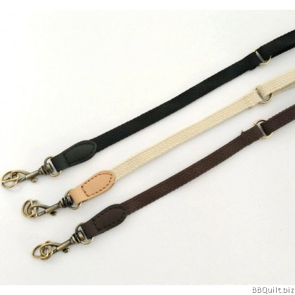 Cross Body Adjustable Real leather bag strap+D hook|Cotton Convas Webbing|3 Colours|75-122cm*1cm
