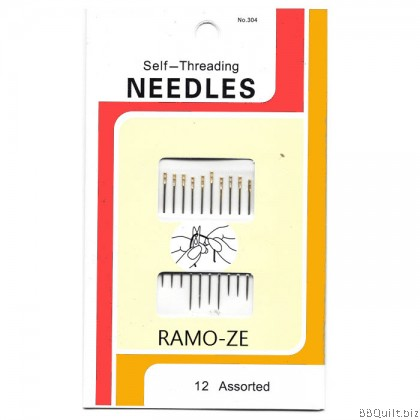 Self-Threading Needles Hand Sewing Needle 12 Assorted