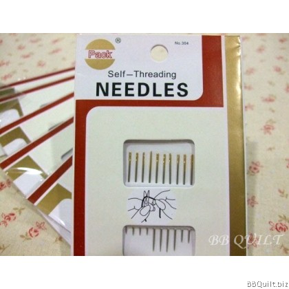 Self-Threading Needles Hand Sewing Needle 12 Assorted