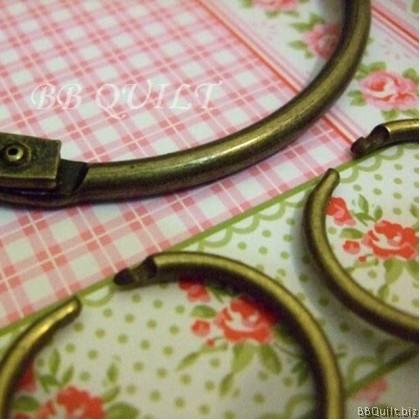 Antique Brass Retro Big Ring Key Holder 1+3