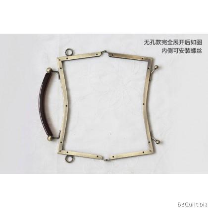 20.5cm Unique Purse Frame with Handle|Double Balls Kiss-Lock Closures|Antique Bronze