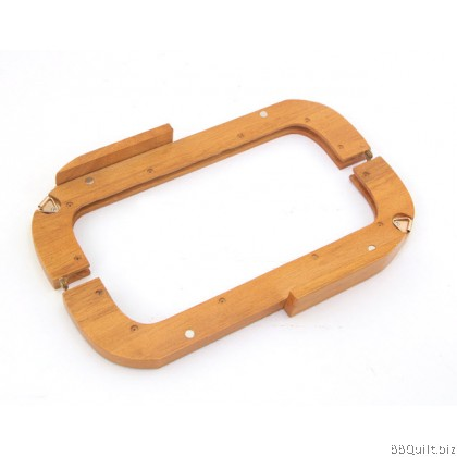 25cm Wooden Handle|Solid Wood Purse Frame+12x screw