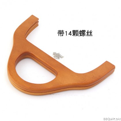26cm Wooden Handle Solid Wood Purse Frame+14x screw