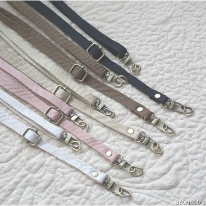 1.2cm*71~132cm Cross Body Adjustable bag strap+D hook|Cotton Convas Webbing|5 Colours