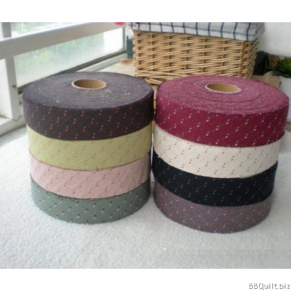 Jacquard Yarn-dyed Bias Tape|Binding Tape|8 Colours