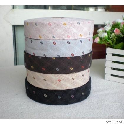 Jacquard Yarn-dyed Bias Tape Binding Tape 5 Colours
