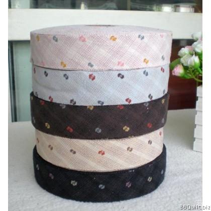 Jacquard Yarn-dyed Bias Tape|Binding Tape|5 Colours