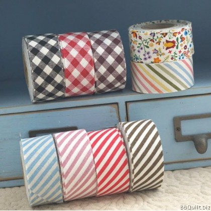 Cotton Linen Bias Tape Collection|Stripe|Checker|Flower Pattern