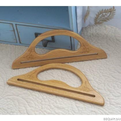 Solid Wood Handle Hanger type Natural Oak Colour Flower
