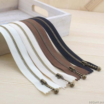 #3 Brass Zippers Closed-end|Metal Zippers|30cm|40cm| 4colours