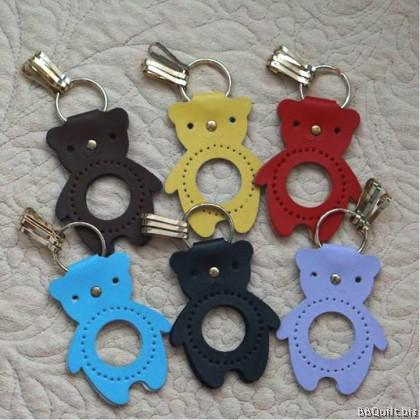 DIY Bear Keyring|Leather Keychain|6 colours