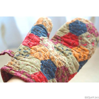 Cotton Floral Oven Mittens