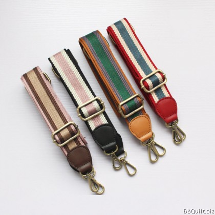 3.8cm Cross Body Adjustable Real leather+Webbing bag strap 16 Colours
