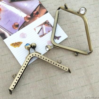 11cm Antique Brass Triangle Purse Frame 4 Colour
