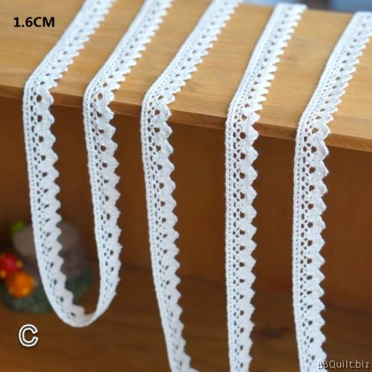 1.1~1.6cm Natural White Cotton Cluny Lace|3 styles