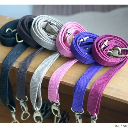 2cm*78~145cm Cross Body Adjustable bag strap+D hook|Cotton Convas Webbing|6 Colours