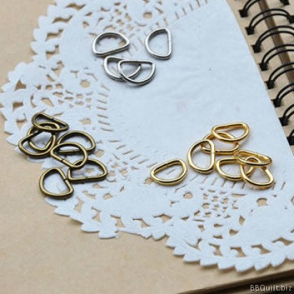 1cm D Ring|Antique Brass|Gold|Silver|10pcsPkt
