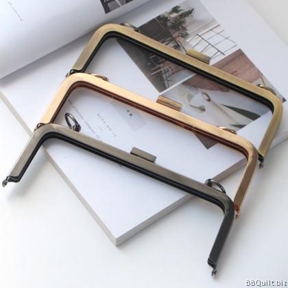 20cm Rectangular Purse Frame With Screws |Square Buckle Closures