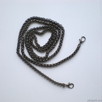 Purse Chain|Wheat Chain|Gunmetal|120cm