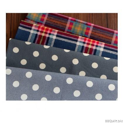 Printed Cotton Canvas Fabric 25 Style half yard