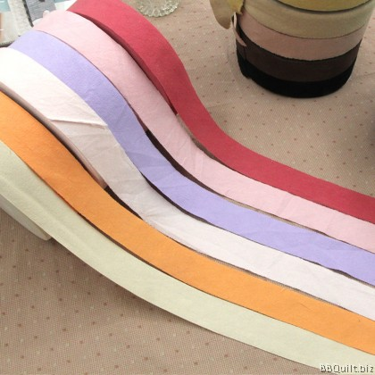 Plain Yarn Dyed Bias Tape Collection|Binding Tape|20 Colours