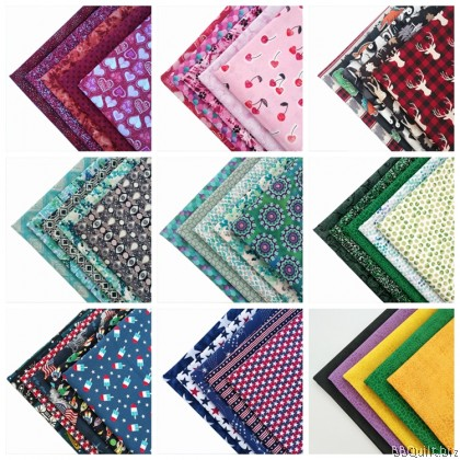 Fat Quarter Bundle Cotton Fabric 5pcs/pks 20 theme Export Quality